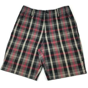Billabong Plaid Flat Front Shorts SZ 32
